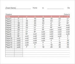 Baseball Roster Template Simple New Baseball Position Chart Template Free Template Design