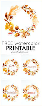 printable thanksgiving greeting cards free watercolor thanksgiving printable place of my taste