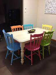 colourful dining table and chairs fabulous ikea dining table with white gloss dining table