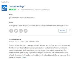 the company that we give as the best example of how to respond to reviews is zillow below is a random review that shows dan spaulding their chief people