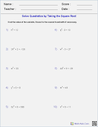 Square-root-worksheet- & Cubed Root: Find The Prime Factors Of The ...