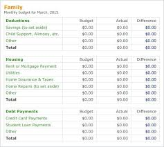 Sample Of Family Budget Personal Family Budget Template Spending Plan Excel Sample Household