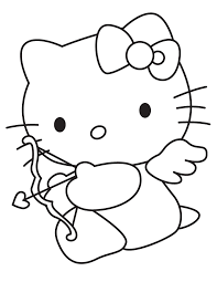 Small Picture Cute hello kitty valentines day coloring pages ColoringStar