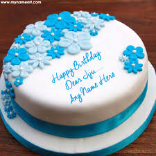 Write Jiju Name On Ice Cream Birthday Cake Pic Online