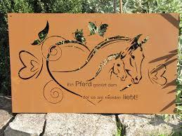 Edelrost Gedichttafel Pferdeliebe Angels Garden Dekoshop
