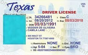Buy Id Fake Template Texas Scannable Identification