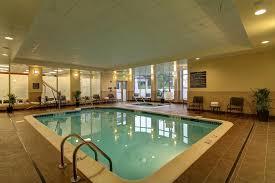 the swimming pool at or near hilton garden inn woodbridge
