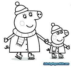 Peppa Pig Coloring Pig Coloring Pictures Pig Coloring Sheets Pig
