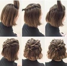 10 Belles Coiffures Faciles Sur Cheveux Courts Saç Saç