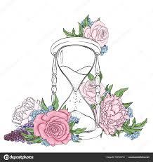 Tetování Hodiny A Růže
