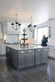 White Kitchen With Red Accents Home Decor Grey And White Kitchen Two Tone Cabinets Images