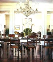 hanging chandelier over table s hang height to above dining chandeli