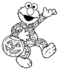 Free Printable Childrens Halloween Coloring Pages Sesame Street