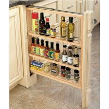 cabinet organizers kitchen base cabinet fillers with pull out storage by rev a shelf kitchensource com