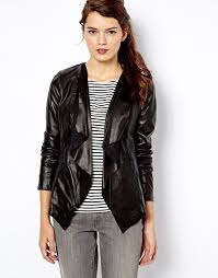 oasis oasis waterfall leather jacket at asos