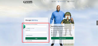 the general auto insurance login form