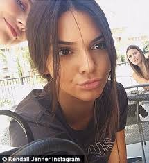 kendall jenner shows off her natural freckles in makeup free selfie