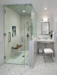 midcentury modern ada accessible guest house transitional bathroom