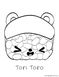 Num Noms Tori Toro Coloring Page Coloring Page Central