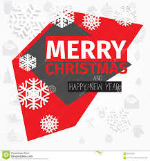 Modern style red black white color scheme christmas card