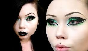 goth eye makeup acid green cyber goth inspired eyeshadow you