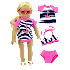 Baby Doll Clothes At Walmart Best Anchor Rash Guard Bikini Top And Bikini Bottoms Bathing Suit For