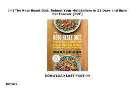 Essential recipes for easy keto lifestyle (english edition) pdf this present every over the internet? The Keto Reset Diet Reboot Your Metabolism In 21 Days And Burn F
