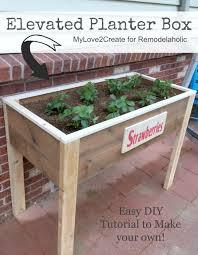 elevated planter box plans garden
