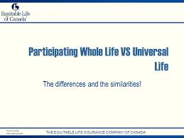 partiting whole life vs universal life