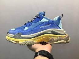 Balenciaga Size Chart Shoes Balenciaga Wms Triple S Trainers Sky Blue 483513w06e24704