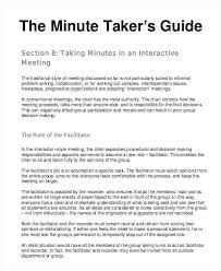 Examples Of Minutes Taken At A Meeting Meeting Minutes Format Template Minute Taking Of With Action