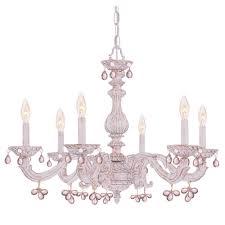 6 light antique white chandelier