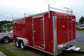 custom cargo trailer with ladder rack