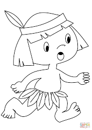 Small Picture Indian Boy coloring page Free Printable Coloring Pages