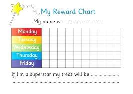 weekly reward chart printable printable blank weekly potty chart printable template sticker