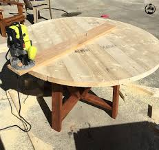 round trestle dining table free diy