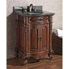 Avanity Provence 24 Inch Antique Cherry Vanity With Imperial Brown Granite Top And Undermount Sink Provence Vs24 Ac Bellacor