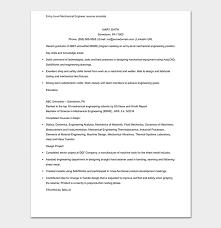 Mechanical Engineering Resume Template Mechanical Engineer Resume Template 11 Samples Formats