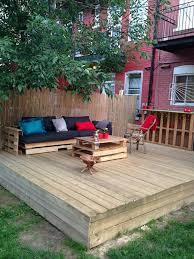skid furniture. DIY Pallet Deck With Furniture Skid T