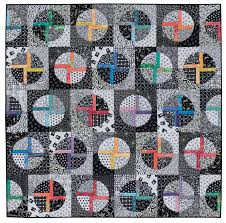 Recommended Reading: Splash of Color! - Color Girl Quilts by ... & black and white and colorful quilt by Jackie Kunkel, pattern in book,