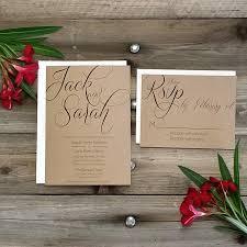 Printed Country Rustic Wedding Invitation Package Printed Rsvp W