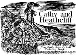 cathy and heathcliff by emily bronte illustration by william  cathy and heathcliff by emily bronte illustration by william stobbs wuthering heightscollage