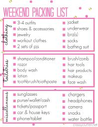 Sample Travel Packing List Arizona Travel Packing List