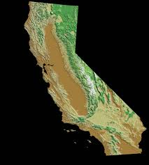 image result for topographic map california  topography