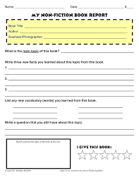 Image Result For Grade 4 Book Report Template Non Fiction Sample ...