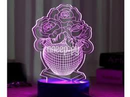 <b>3D лампа Veila</b> 3D Ваза с цветами 1048