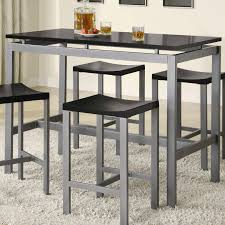 Tall Rectangle Dining Table  3 Piece Counter Height Table Set  Counter  Height Table Sets