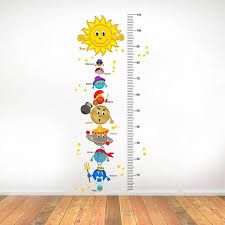 Height Chart Pictures Rawpockets Solar System And Height Measurements Chart For Kids Kids Room