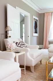 Taupe Living Room Furniture Pink Gold Gray Living Room With White Linen Sofa Pink Curtains