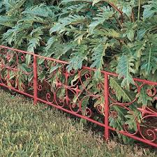 garden edging fence. Substantial Scroll Garden Edging Traditional Fencing, Very Nice, Gives Color Where There Isn\u0027 Fence